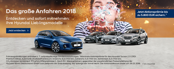 Save the Deal Hyundai Bestseller i10, i20, i30 und Tucson